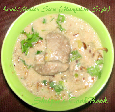 kerala mutton stew with coconut milk