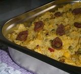arroz frango no forno