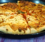 maida and wheat flour pan pizza dough without yeast