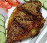 white pomfret fish fry