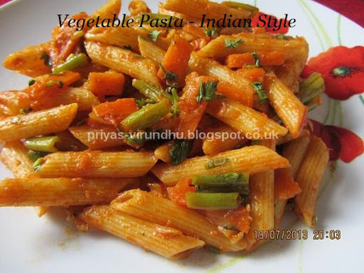 indian style pasta step by step