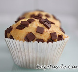 muffins con pepitas de chocolate