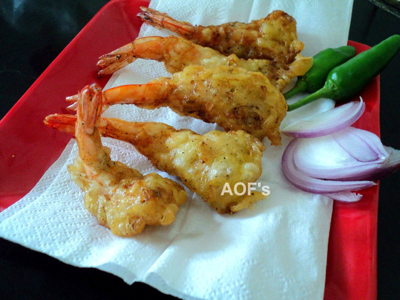 chinese golden fried prawns