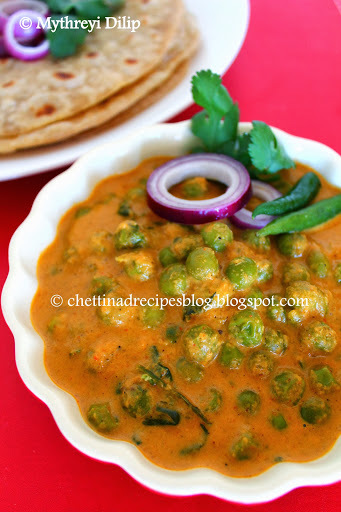 chettinad green peas masala
