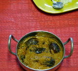 white brinjal curry