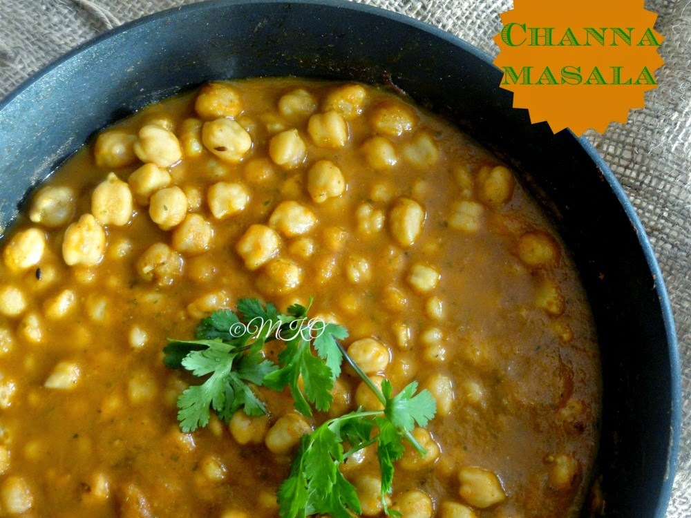 channa masala gravy for chapathi