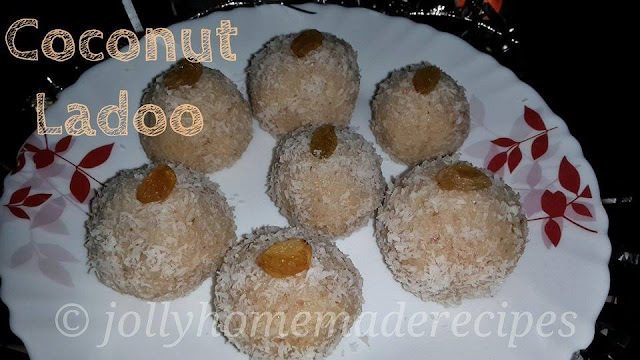 to make coconut ladoo from dry coconut powder