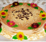 tarta de galletas maria con cafe