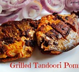 grilled pomfret in microwave