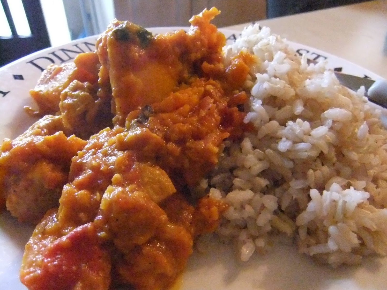 quorn chicken pieces and butternut squash curry