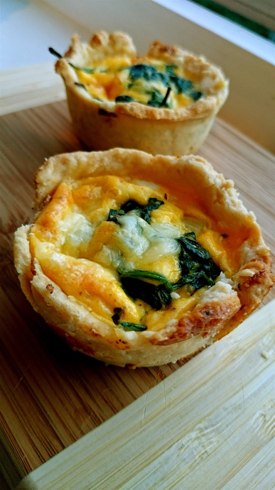 quiche med spinat