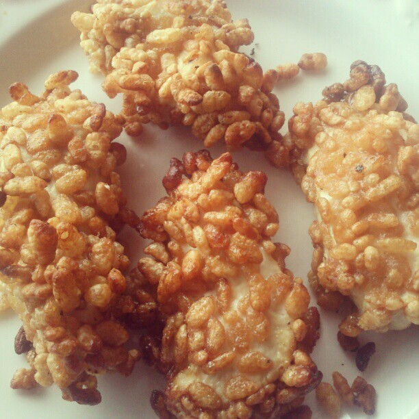 lisa faulkner rice krispie chicken