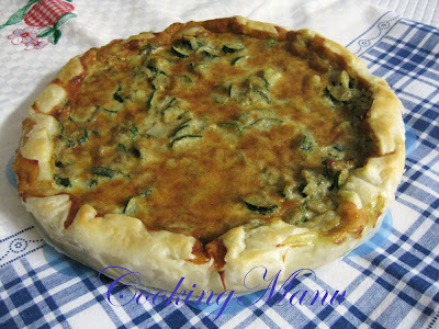 zucchini blue cheese quiche