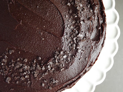 chocolate fudge cake in one tin
