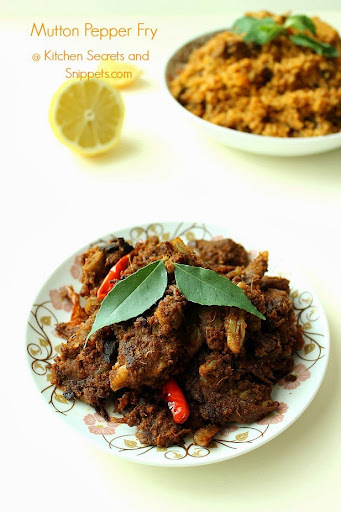 mutton pepper fry dry