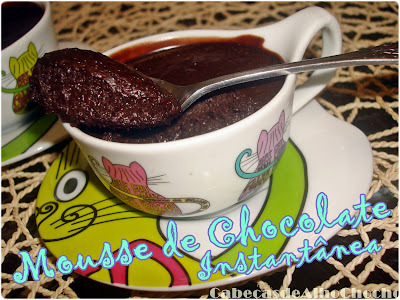 mousse de chocolate instantanea