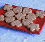 wheat flour cookies in microwave