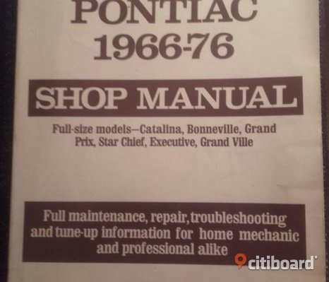 Shop manual Pontiac fullsize 1966-76