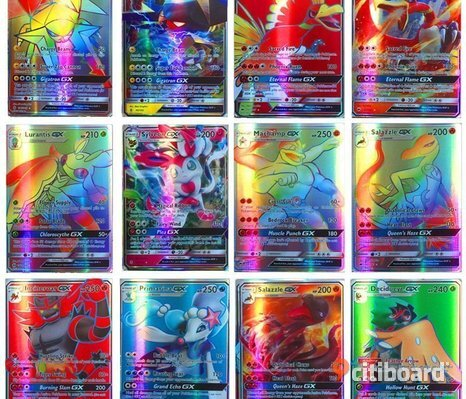100 st (95 GX + 5 MEGA) Pokemon Kort Card Holo Flash Trading Hot Sale