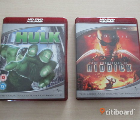 The Chronicles Of Riddick +Hulk. 2 st HDDVD Filmer.