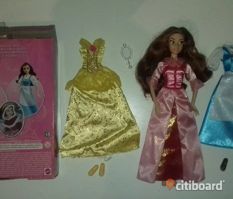 Disney princess belle disneystore docka barbie
