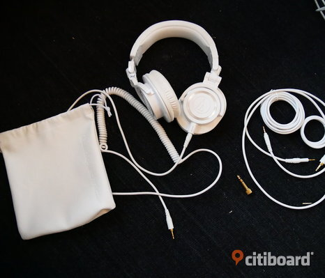 Vita Audio-Technica ATH-M80X White Hörlurar