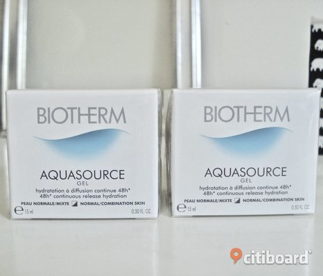 BIOTHERM - Aquasource Gel for Normal to Combination Skin! 2 st! Nya!