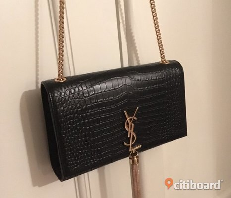 Ysl handväska Kate Crocodile