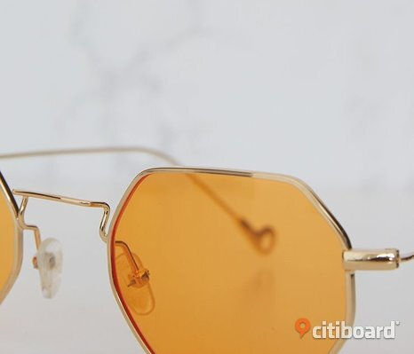 Orange Rounded Lens Retro Sunglasses
