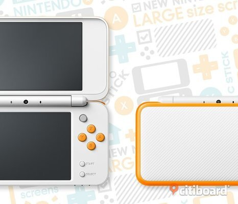 New Nintendo 2DS XL + två spel