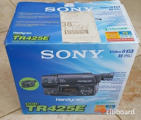 Sony Handycam video8 XR CCD-TR425E Analog Video kamera hi8