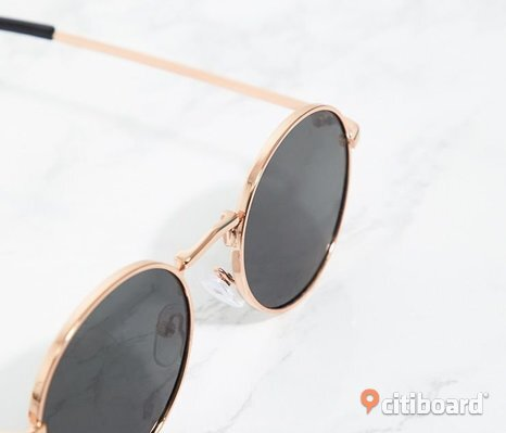 Black Rounded Lens Retro Sunglasses