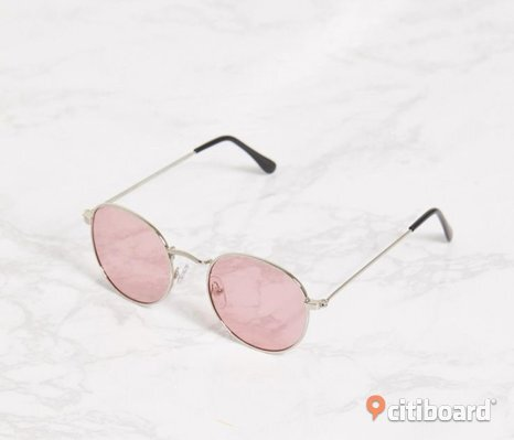 Pink Rounded Lens Retro Sunglasses