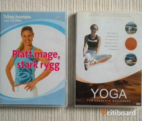 Yoga For Absolute Beginners + Träna Hemma. 2 st Dvd's