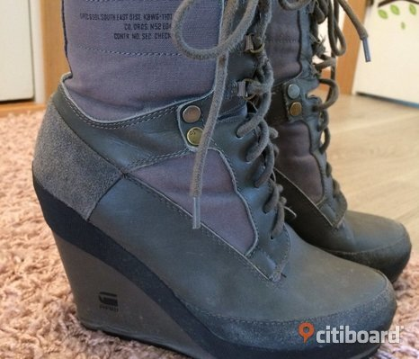 G-STAR RAW skor kilklack wedge gråa stl 39