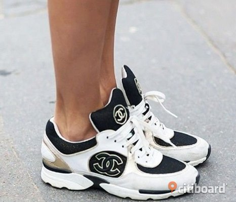 Ombloggade Chanel Sneakers CC Skor Shoes Streetstyle Blogg Fashion Design