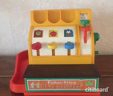 Fisher Price Liten retro kassaapparat