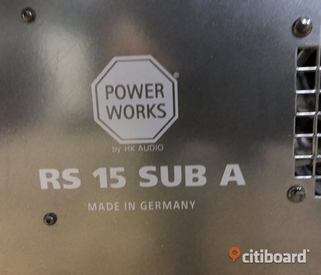 PA Bas Power Works RS 15 SUB A