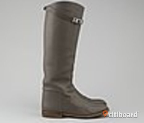 KÖPES HERMES KELLY JUMPING LEATHER RIDING BOOTS STÖVLAR GRÅ TAUPE EL BRUN STL 37,5 38 38,5 + SCARFS SCARVES