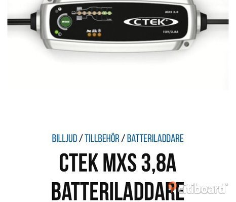 battery charger CTEK mxs 3,8
