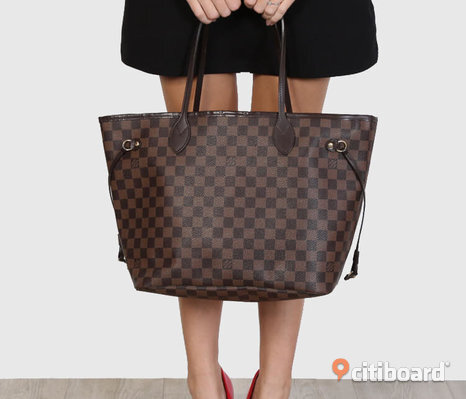 Louis Vuitton Neverfull MM Damier Väska Ebene Monogram