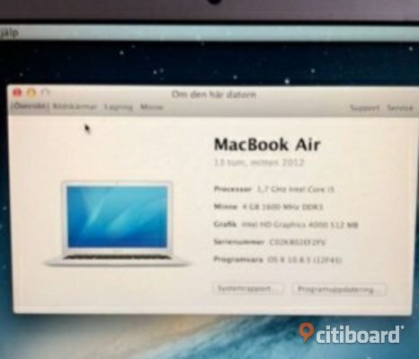 MacBook Air mitten 2012 13""
