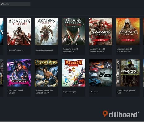 Uplay konto 2 av 2 - Assassin's creed 1, 2, 3 mm. Far Cry 3: Blood Dragon, Prince of Persia: The Sand of Time, Rayman Origins, The Crew, Tom Clansy's Splinter Cell, Watch Dogs 2 - The Return of Dedsec