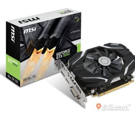 MSI GeForce GTX 1050 2GB OC Begagnat men i så gott som nyskick
