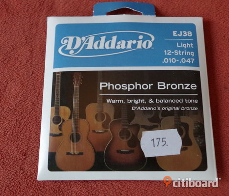 DÁddario 12 String Phosphor Bronze Acoustic	10-47