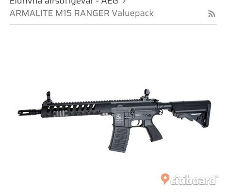 Armalite M15 rager airsoft
