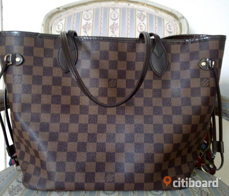 oäkta Louis Vuitton Neverfull MM Damier