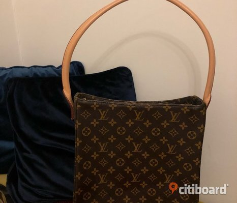 Louise vuitton looping väska stor modell