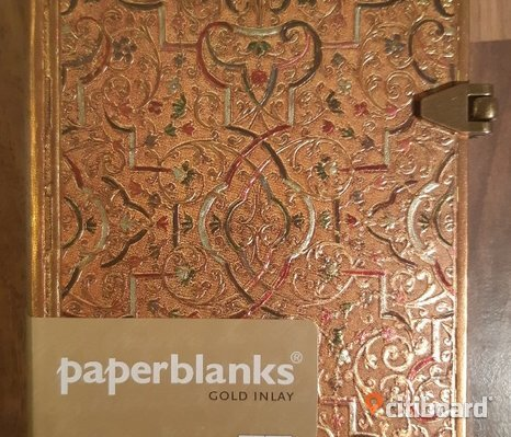 NY! PAPERBLANKS GOLD INLAY MEMENTO DIARY
