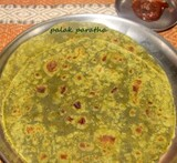 side dish with palak paratha recipe